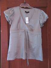 EXPRESS JUNIOR WOMEN WOMENS SHIRT TOP BLOUSE SKIRT GREY NWT SMALL RIBBON BELT