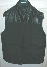 "ASOS MEN'S BLACK FAUX LEATHER PADDED GILET SLEEVELESS JACKET L LARGE 40"" - 42"""