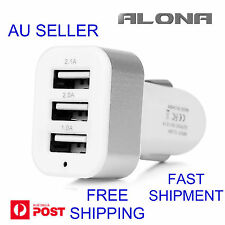 Universal Triple 3 USB Car Charger Adapter 3 Port 2A 2.1A 1A For iPhone Samsung