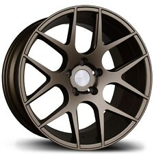 18X8.5/9.5 Avid.1 AV30 5x100 +35/30 Bronze Rims Fits Vw Golf Jetta 1999-2005