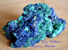 Natural Gemstone Crystal Raw Azurite n Malachite Large Specimen Rare Collectable