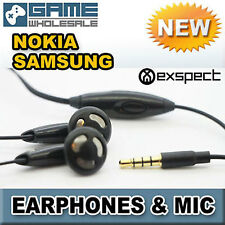 Universal EARPHONES With MIC Microphone 3.5mm Hands Free Mobile Phone BLACK V1