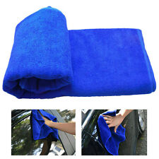 Nano Microfiber Cleaning Blue Towel Car Wash Drying Cloths Towels 70*30 cm
