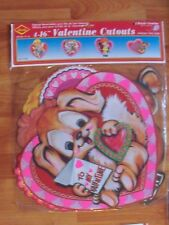 """1990 Beistle Four Pack of 16"""" Valentines Heart Diecut Cutouts Decoration  NOS"""