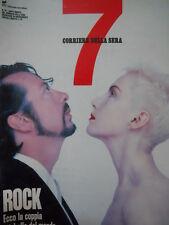 7 Sette Supplemento Corriere della Sera n°32 1989 Annie Lennox Dave Stewart[C56]