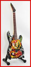 METALLICA KIRK HAMMETT GUITARE MINIATURE SIGNATURE BETTY BOOP !! Collection Mini