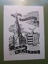 EXLIBRIS BOOKPLATE per Jaak Braeken-non firmati-Chiesa STEMMA
