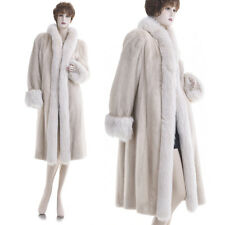 LKNW! Glamorous! Female Pearl Blush Mink w/Fox Fur Tux & Cuffs Coat