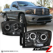 Left+Right HaLo ProjectOr SmOke Headlight Lamps 06-2008 Dodge RAM 1500/2500/3500