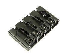 Hipshot A Style 4 String Bass Bridge Aluminum, Black, Retrofits 5 Hole Fender