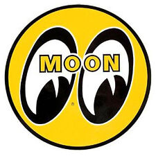 "Mooneyes Yellow Moon 5"" Sticker Decal VW Golf Polo Lupo Caddy Jetta Passat T4 T5"