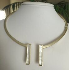 NWT Kendra Scott TRISTAN HINGE STATION COLLAR NECKLACE IVORY MOP $120.00