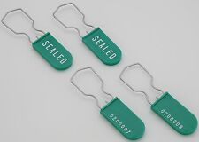 Padlock Metal Wire Security Seal Pack of 25 Green Made In USA