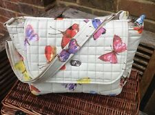 "Cushi cots Handmade baby changing bag ""butterflies"" new"