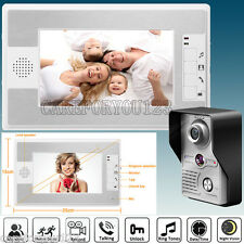 "7"" Video Door Phone Doorbell Intercom Home Entry Security System Camera Monitor"