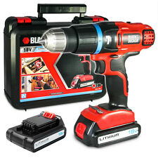 Black+Decker Trapano avvitatore a percussione 18V 2 batterie litio EGBL188KB