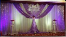 Newest silk wedding decoration backdrops wedding stage curtain drapes with swag