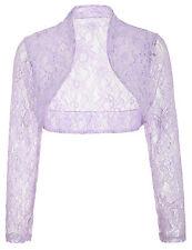 Women Cropped LACE Shrug Ladies Bolero Shawl Cardigan Tops Blouse Wedding Jacket