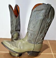 J Chisholm Cowboy Western Rancher Boots Country  Embroidered Distressed Mens 9.5