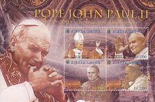Sierra Leone 2010 MNH Pope John Paul II 5th Memorial Anniv 4v M/S I Popes Stamps