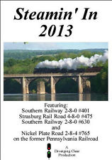 Railroad DVD: Steamin' In 2013 - Southern 401 and 630, Strasburg 475 and NKP 765