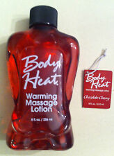 Body Heat Edible Warming Massage Lotion Chocolate Cherry 8 oz Sexy Personal Oil