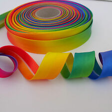 per metre satin rainbow bias binding 20mm wide