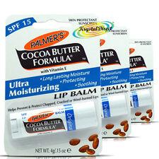 3 x Palmers Burro di Cacao ULTRA Idratando SPF15 BALSAMO LABBRA 4G