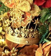 Vintage French Style 7 Star Santos Crown with Rhinestones Metal Replica 1800's
