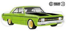 Chrysler Valiant VG Pacer Hemi 2Door - Lime with Gold Rims