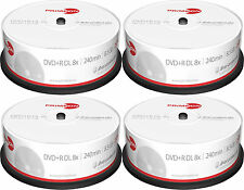 100 Primeon DVD+R DL 8,5Gb 240Min 8x silver protect disc Spindel Double Layer