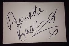 ANNETTE BADLAND SIGNED 6X4 WHITE CARD TV AUTOGRAPH EASTENDERS