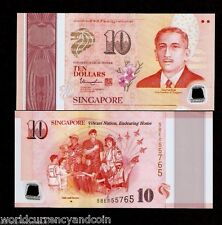 SINGAPORE 10 Dollars 2015 POLYMER Commemorative UNC SG50 Plane Army MONEY NOTE