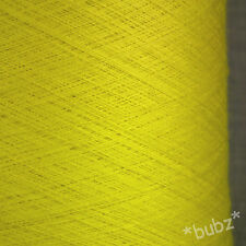 STUNNING LEMON SUPER FINE 2/60 SILK MERINO COBWEB YARN 250g CONE 0 PLY LACEWEIGH