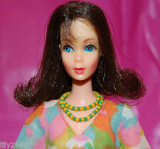 VINTAGE MOD MARLO FLIP BARBIE DOLL TWIST N TURN TNT w/1970 FLOWER POWER #1453