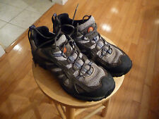 MENS MERRELL  BELUGA DENIM BLUE SUEDE HIKING TRAIL SHOES SIZE 11 EUC