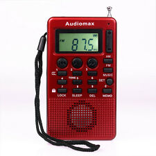 8Pcs New Protable FM/AM Radio MP3 USB Speaker w/ Alarm Clock Sleep Timer 2W Hot
