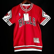 100% Authentic Bulls Mitchell & Ness Bulls Shooting Shirt Size 36 S - jordan