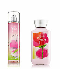 Bath & Body Works Sweet Pea Body Lotion and Fragrance Mist Spray Set