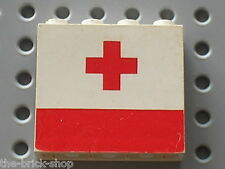 LEGO Panel with Red Cross Pattern ref 4215ap02 / Set 6691 &  6680  Ambulance