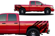 Custom Vinyl Decal RIPPED Wrap Kit for Dodge Ram 1500/2500 2002-2008 Matte Black