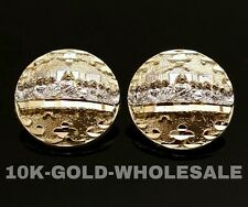 NEW MENS 10K YELLOW SOLID GOLD LAST SUPPER STUD EARRING 3352