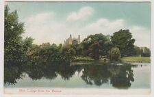 Berkshire postcard - Eton College from the Thames - P/U 1905