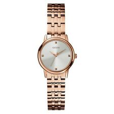 AUTHENTIC GUESS LADIES WAFER WATCH W0687L3 RRP:$349 BRAND NEW ROSE GOLD