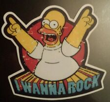 Homer Simpson I wanna rock sticker laptop guitar tablet suitcase 702