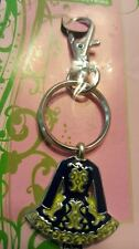Irish Pewter and Enamel Green Dancing Dress Bag Charm/Keyring