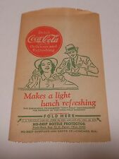 "Vintage Coca Cola 1944 Dry Server ""Makes a light lunch refreshing"" #23"