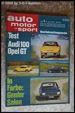 AMS Auto Motor Sport 8/69 Opel GT Lancia Flavia 2000 Porsche 917