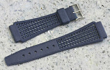 Blue 18mm Tropic band type nylon signed Golay Swiss vintage item from 1960s/70s