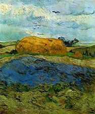 Haystack Under A Rainy Sky 1890 A4 Print